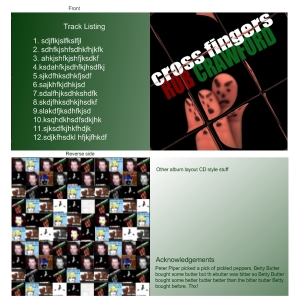 Rob Crawford - Cross Fingers - CD layout